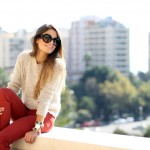 Russet flared jeans