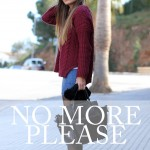 No more please