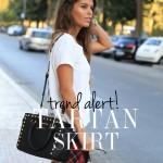Trend Alert : Tartan skirt