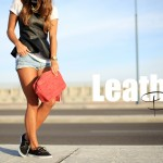 Leather Peplum