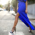 PARTY CODE: blue klein long dress