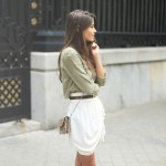 "summer ""must have"" : white skirt"