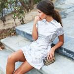 Metallic chic dress