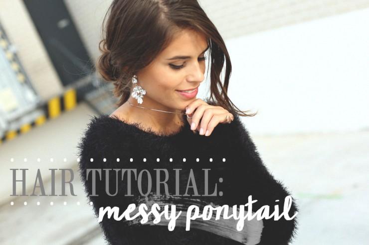 hair tutorial : messy ponytail