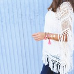 poncho fringed top