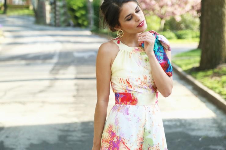 St. Louis: floral jumpsuit