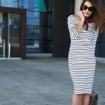 midi striped dress