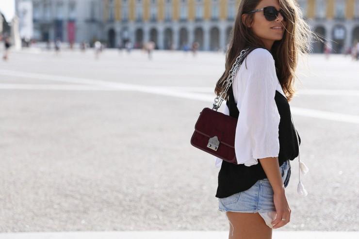 Lisboa #4: Black lace top + Blouse