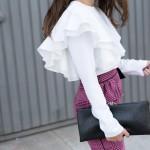 pink houndstooth skirt