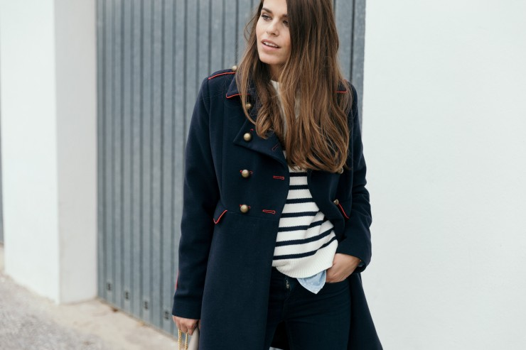 Military blue&red coat