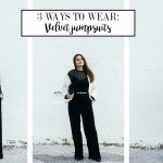 3 ways to wear: Velvet jumpsuit