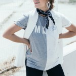 formal vest with a cotton tee