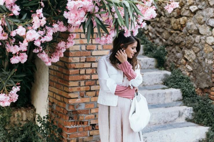 Pink linen jumpsuit
